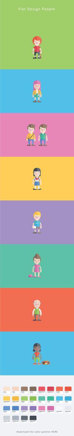 Flat Design People (Free) on Bēhance https://www.facebook.com/oswaldoloretoart https://www.behance.net/oswaldoloreto