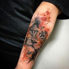 You can hear the roar of work by carolynn.art from São Paulo / SP Budgets . - You can hear the roar of carolynn.art& work in São Paulo / SP Budgets … – – - Wolf Tattoos, Lion Head Tattoos, Animal Tattoos, Leg Tattoos, Body Art Tattoos, Sleeve Tattoos, Tattos, Trendy Tattoos, Unique Tattoos