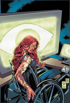 Wiki on Barbara Gordon, once Batgirl, then Oracle, now Batgirl again. I liked her best as Oracle as writen by Gail Simone. Dc Batgirl, Batwoman, Nightwing, First Superhero, Superhero Movies, Female Superhero, Comic Book Characters, Comic Books, Fictional Characters