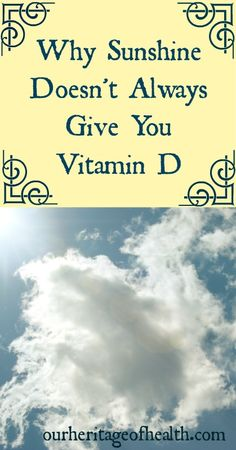 Just because you're in the sun doesn't mean you're getting Vitamin D | Our Heritage of Health