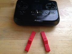 "3DR Solo ""Controller"" Anti Tip Feet Red Set 