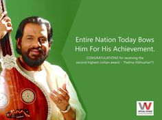 If it were not for you, It would not be worthy !! CONGRATULATIONS for receiving the second highest civilian award - Shri K J Yesudas Sir!! The entire virtual voyage family bowS in your honour sir!!