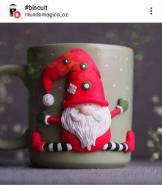 Christmas Mugs, Christmas Nails, Christmas Crafts, Christmas Decorations, Christmas Ornaments, Holiday Decor, Polymer Clay Christmas, Polymer Clay Crafts, Ballerina Cakes