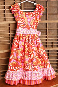 Girls Princess Dress with Large Sash and a by SewManyRuffles, $54.00