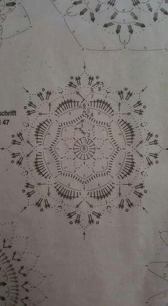 … - Her Crochet Mandala Au Crochet, Crochet Leaf Patterns, Crochet Snowflake Pattern, Crochet Leaves, Crochet Circles, Crochet Motifs, Crochet Snowflakes, Crochet Doilies, Crochet Flowers