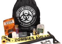 Zombie Survival Kit features real tactical ax and a spork via @CNET < caint wait to use it, I like zombies :3