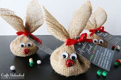 Santa gets the milk and cookies, but these adorable treat sacks are perfect for Rudolph and his friends. Get the tutorial at Consumer Crafts.    - CountryLiving.com
