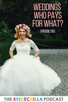 On the Podcast this week Cristina from Plan The Day App and I talk about who pays for what in weddings! 💵   From Bridesmaids hair and makeup to cutlery! 🍴  It can be hard to talk cash with those closest to us but we know this episode will help you out!  Learn more here: https://thebridechilla.com/2017/04/263-weddings-pays/