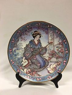 Vintage Royal Doulton Plate Plum Blossom Maiden By Marty Noble Limited Edition