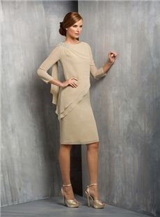 Amodabridal.com.au Offers You Elegant A-Line Beading Knee-Length Mother of the Bride Dress Australia,Price: AUD$167.74