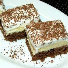 Kremast kolač - BrziKolaci.com Sweet Desserts, Dessert Recipes, Kolaci I Torte, Strudel, Tiramisu, Deserts, Food And Drink, Favorite Recipes, Sweets