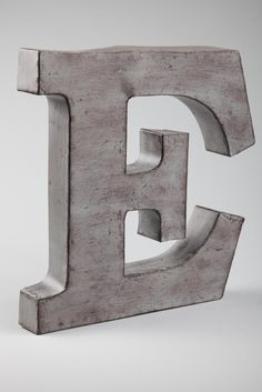 Typo Shop - metal letters silver large AUD$39.95
