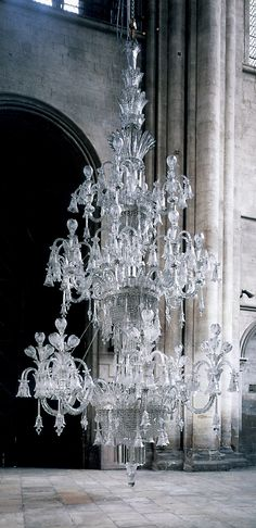 ONE OF THE WORLD'S LARGEST CHANDELIERS: A Very Large & Impressive Crystal-Glass & Silvered-Bronze 160-Light Chandelier, by the outstanding metal & glass goods firm in 19th Century Birmingham, England: F. & C. OSLER. 1910, Approx. 22 Feet High & 15 Feet Wide, 1.5 Tons. It was commissioned by a Maharajah for the Durbar room of his palace in West Bengal.