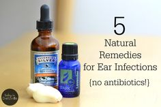 5 Natural Remedies For Ear Infections {no antibiotics!} Ear infections are one of the easiest maladies to treat naturally and at home. Here are 5 natural, no-antibiotic treatments for ear infections that work! Natural Home Remedies, Natural Healing, Herbal Remedies, Health Remedies, Cold Remedies, Bloating Remedies, Remedies For Ear Infections, Antibiotics For Ear Infection, Natural Ear Infection Remedy