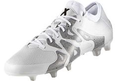 adidas X 15.1 FG/AG Soccer Cleats - White & Black