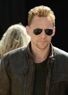 Tom Hiddleston filming The Night Manager 4/15/15, Devon.