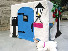 Felt and Canvas Playhouse ~ Cottage Door
