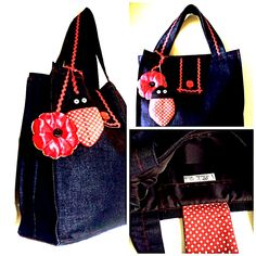 Denim Bag 12 in denim, waterproof lining, button and deco tape with flap and magnetic cap, 1 inside pocket and 1 zipper pocket with zipper closure Denim Bag, Tape, Closure, Zipper, Shoulder Bag, Pocket, Button, Deco, Gifts