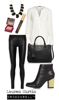 Lauren Curtis | all black & gold outfit