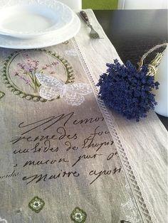 shabby.romantic / Linen runner Provence