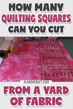 A complete table detailing the number of quilting squares you can cut from a yard of fabric. Includes squares ranging in size from half an inch all the way up to 20 inches. Quilting Templates, Quilting Tools, Quilting Rulers, Quilting Tutorials, Quilting Designs, Quilt Patterns, Quilt Design, Quilting Ideas, Sewing Patterns