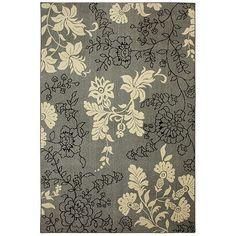 For Living Room  Floral Chic Pressley Rug (Gray/Black/Cream)  $299 Kohls