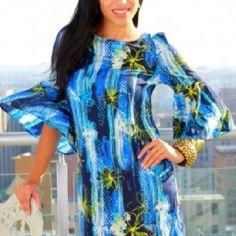 Pretty in blue retro dress