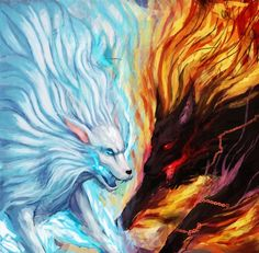 good vs evil is a regular theme shown throughout the play. a good representation of this would be before the witches tell Macbeth about his future. Beautiful Fantasy Art, Dark Fantasy Art, Wolf Artwork, Beast Creature, Flame Art, Wolf Wallpaper, Wolf Pictures, Mythical Creatures Art, Majestic Animals