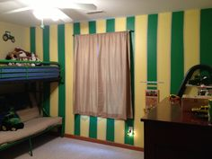 John Deere Bedroom part 3. I want my kids to have this!