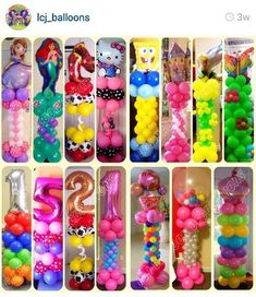 Pretty collection of balloon colors for girls and boys' birthday parties.