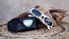 White Sunglasses, Vintage Police Sunglasses, White Police Sunglasses, Model 1237, Color 847, Woman Sunglasses, 90'