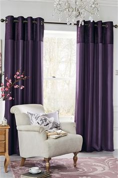 Buy Purple Ella Eyelet Curtains from the Next UK online shop