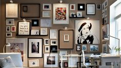 Picture frame home decor ideas framed wall decor home entrance decor photo frame wall decor ideas Wall Collage Decor, Frame Wall Decor, Frames On Wall, Framed Wall Art, Frame Decoration, Collage Ideas, White Frames, Family Picture Frames, Picture Wall