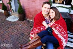 Winter/Christmas save the date photo