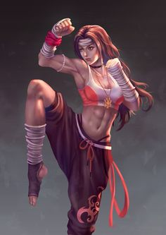 Female Martial Girl by Takashi Tan