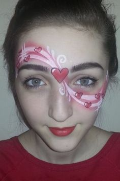 Sweet simple heart design face paint