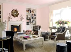 "benjamin moore ""bridal pink"" -- photo from house beautiful"
