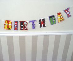 Avengers HAPPY BiRTHDAY Banner - Captain America, Iron Man, Black Widow, Hawkeye, Hulk, Thor via Etsy.