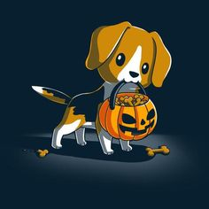 Trick or Treat Pup T-Shirt TeeTurtle