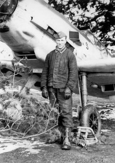 German pilot with his Messerschmitt Bf 109