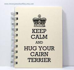 Cairn Terrier Journal Notebook Diary Sketch by stevenjameskeathley, $8.95