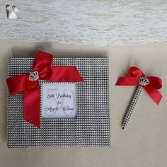 Custom Bling Guest Book Set - Choice of Colors - Wedding guestbooks (*Amazon Partner-Link)