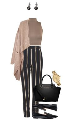 """Happy Friday !"" by azzra ❤ liked on Polyvore featuring Topshop, WearAll, Madewell, MICHAEL Michael Kors, Lacoste and grannyflats"