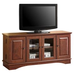"""Found it at Wayfair - Wyatt 52"""" TV Stand http://www.wayfair.com/daily-sales/p/TV-Stands-%26-Media-Storage-Wyatt-52%22-TV-Stand~CTHM2690~E19649.html? refid=SBP.rBAZEVHoLHJZaSWZNy8wAnCG3MQDrk53mEPSt_Wg-Uk Cabinet hinges at side - specifically for media"""