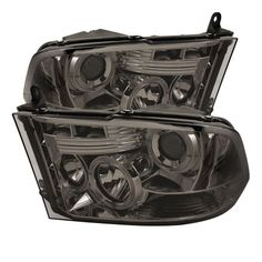 Smoke Dodge Ram 1500 Ram 2500 3500 Osram LED Halo DRL Daytime Running Lights Front Projector Headlights Headlamps Replacements Both Driver Passenger Sides Left Right Pair Set Low Beam Bulb 2011 2012 2013 2014 2015 2016 09 10 11 12 13 14 15 16 17 Chrome Halogen Headlights, Hid Headlights, Projector Headlights, Led Projector, 2017 Ram 1500, 2018 Ram, 2018 Dodge, Dodge Ram 3500, Led Tail Lights