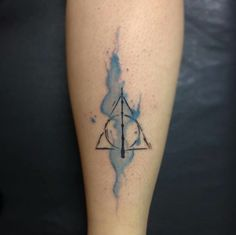harry potter, tattoo, and watercolour image