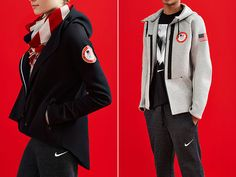 Nike Outfits U. Athletes in Slick Silver and Fleece for 2014 Sochi Olympics Sports Uniforms, Winter Games, Team Usa, Nike Outfits, Winter Olympics, Olympic Games, Athletes, Canada Goose Jackets