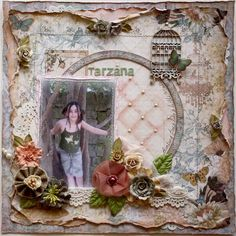 Layout made by Guest Designer Gabrielle Pollacco for the May 2012 Scrap That kit (Prima Papers & Blooms)