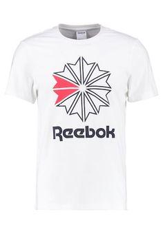 Reebok Classic Print T-shirt - white - Zalando.co.uk