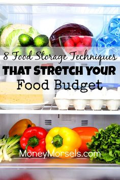 Proper food storage techniques can make food last longer and stretch your grocery budget. Frugal Living Tips, Frugal Tips, Frugal Meals, Budget Meals, Money Saving Meals, Save Money On Groceries, Grocery Savings Tips, Genius Ideas, Food Hacks